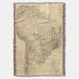 Composite South America 4 Throw Blanket