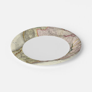Composite South America, West Indies Paper Plate