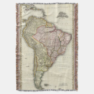 Composite South America, West Indies Throw Blanket
