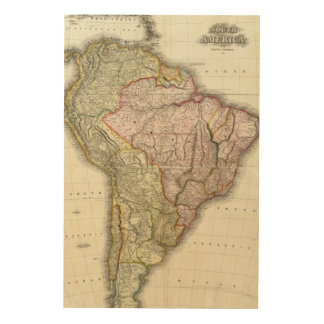 Composite South America, West Indies Wood Print