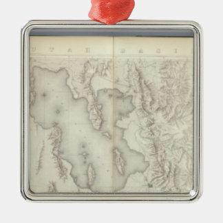 Composite Topographical maps IV Christmas Ornament