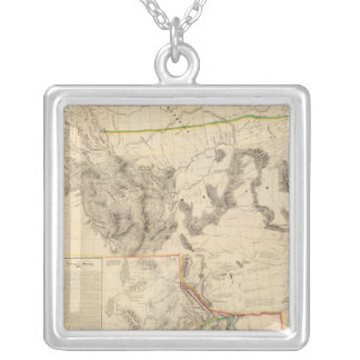Composite Western United States Silver Plated Necklace