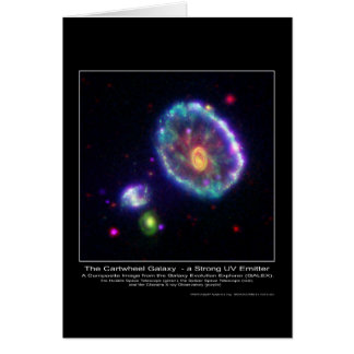 CompositeImageOfTheCartwheelGalaxy-2006 Greeting Card