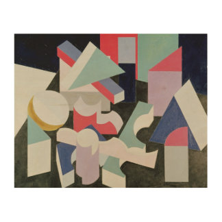 Composition, 1927 wood print