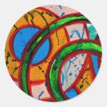 Composition #20 by Michael Moffa Round Sticker