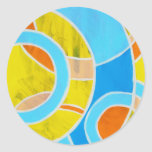 Composition #23 by Michael Moffa Round Sticker