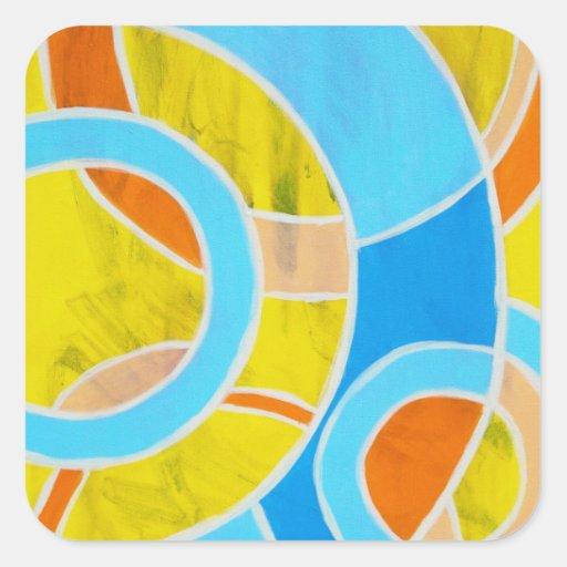 Composition #23 by Michael Moffa Square Sticker