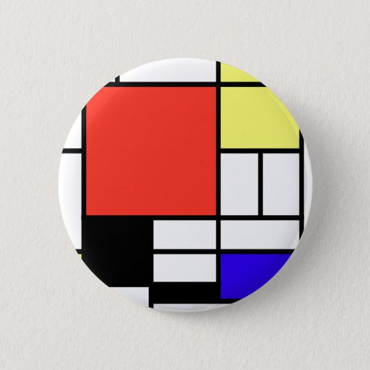 Composition and Mondriaan 6 Cm Round Badge