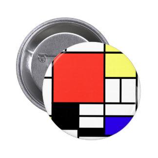 Composition and Mondriaan 6 Cm Round Badge