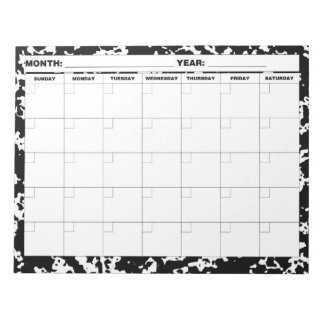 Composition Blank Calendar Notepad
