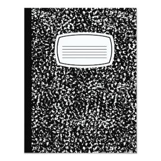 composition book 11 cm x 14 cm invitation card