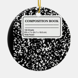 Composition Book Christmas Ornament