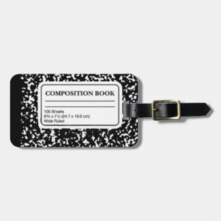 Composition Book Luggage Tag