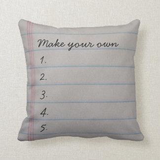 Composition Book Pillow Template