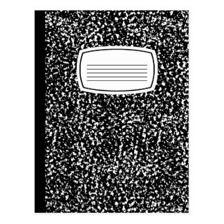composition book postcard