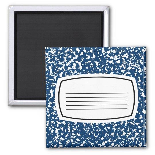 composition book square magnet