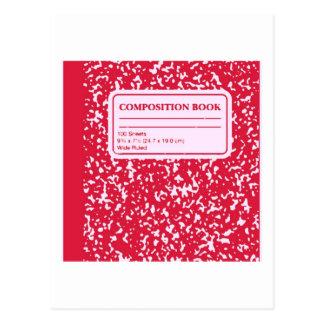 Composition Book/Student-Teacher Postcard