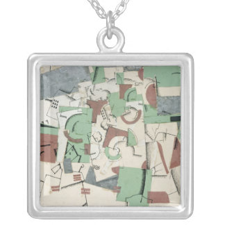 Composition, c.1920 silver plated necklace