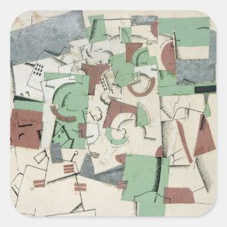 Composition, c.1920 square sticker