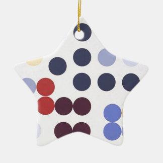 Composition dans un cercle by Sophie Taeuber-Arp Ceramic Star Decoration