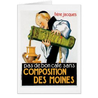Composition Des Moines Vintage Drink Ad Art Note Card