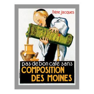 Composition Des Moines Vintage Drink Ad Art Postcard