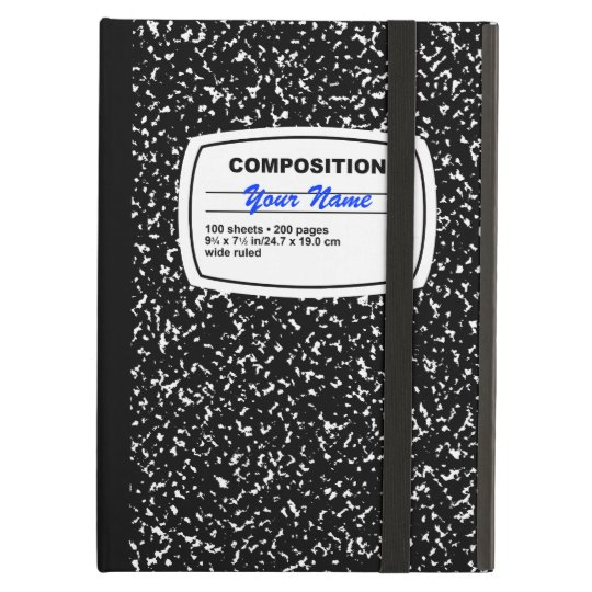 Composition Notebook Customisable iPad Air Case