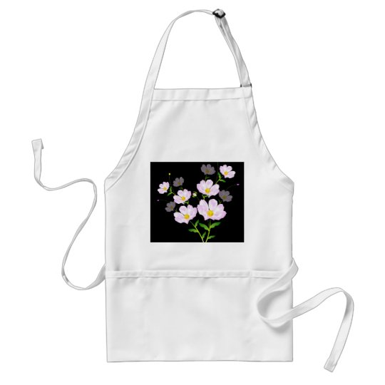 Composition Of Pink Flowers, Apron