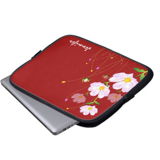 Composition Of Pink Flowers, Laptop Skin Laptop Sleeve