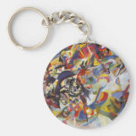 Composition VII Basic Round Button Key Ring