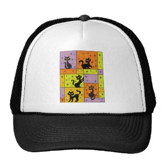 Composition with 5 Black Cats Cap