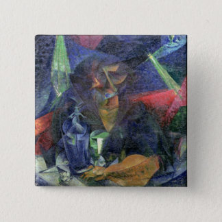 Composition with Figure of a Woman, 1912 (oil on c 15 Cm Square Badge