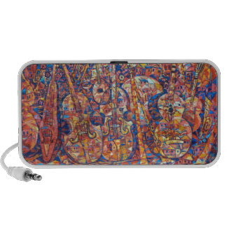 Composition with musical instruments Painting Dood Travel Speakers