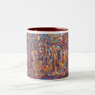 Composition with musical instruments Painting Mug