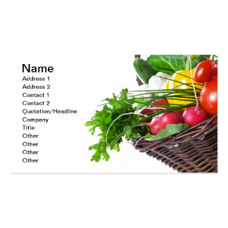 Composition With Raw Vegetables Pack Of Standard Business Cards