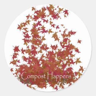 Compost Happens Classic Round Sticker