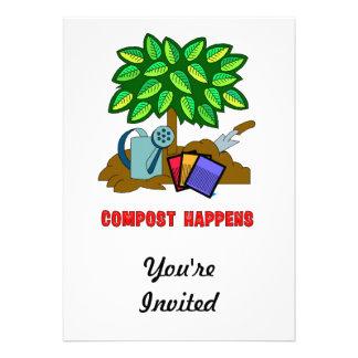 Compost Happens Personalized Invitation