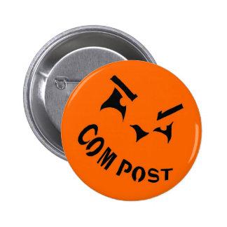 Compost Jack-o-Lantern Button
