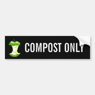 COMPOST ONLY BUMPER STICKER
