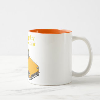 compressed rust Two-Tone coffee mug