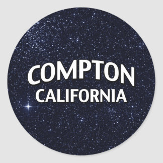 Compton California Round Sticker
