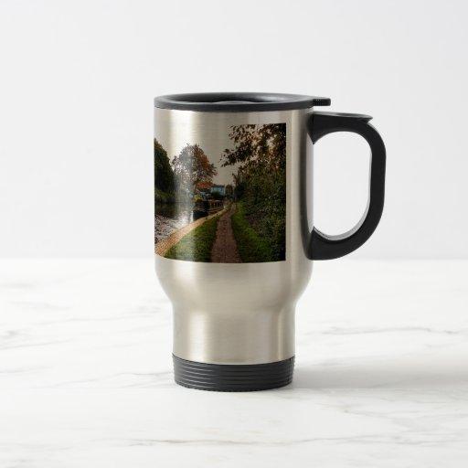 Compton canal and barge coffee mugs