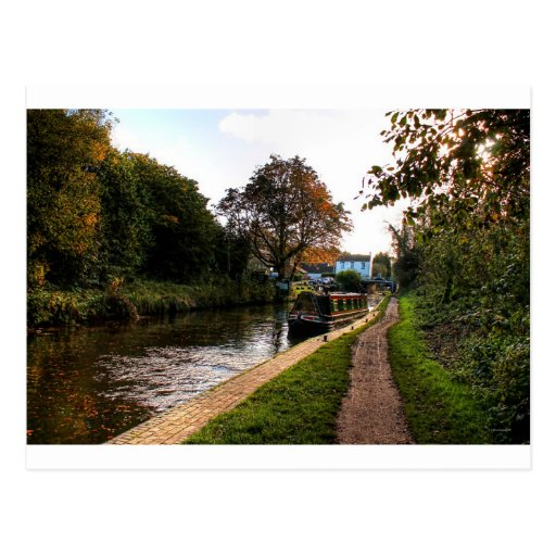 Compton canal and barge postcards