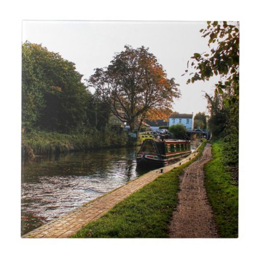 Compton canal and barge ceramic tiles