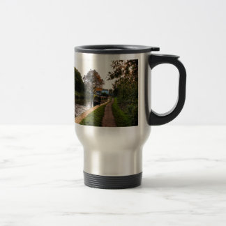Compton canal and barge travel mug