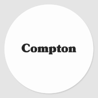 Compton Classic t shirts Round Sticker