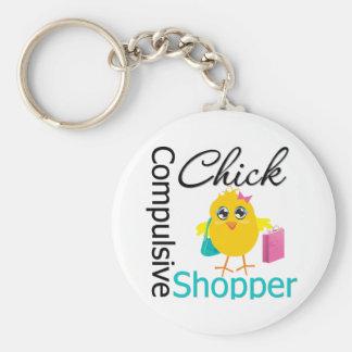 Compulsive Shopper Chick Key Chain