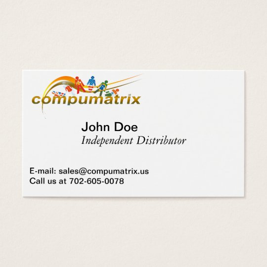 Compumatrix Dual Purpose Business Card