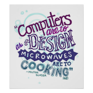 Computer are to design posters