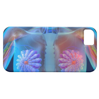 Computer artwork representing breast cancer, iPhone 5 case